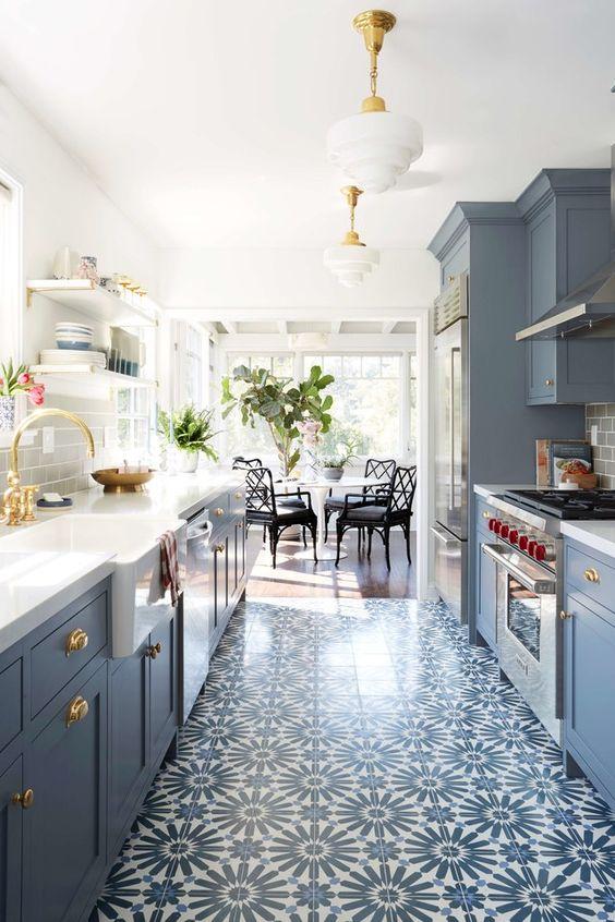 Galley Kitchen Ideas: Soft Pastel Kitchen
