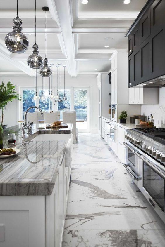 Galley Kitchen Ideas: Breathtaking Marble Accent