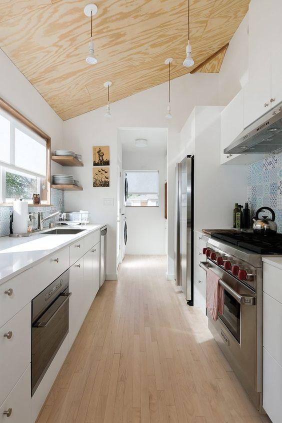 Galley Kitchen Ideas: Relaxing Scandinavian Nuance
