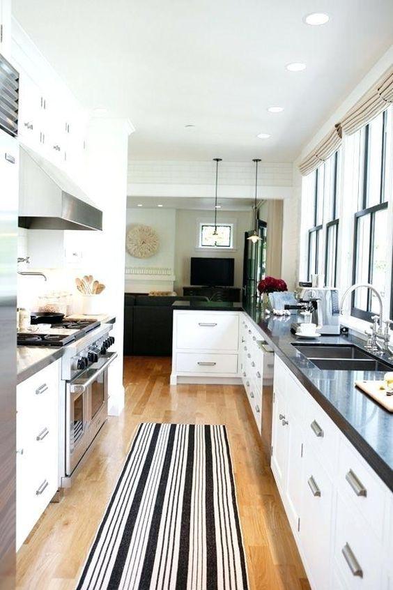 Galley Kitchen Ideas: Stylish Minimalist Kitchen