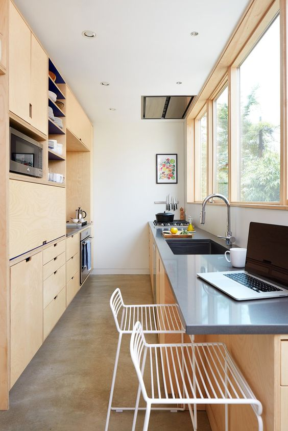 Galley Kitchen Ideas: Simple Contemporary Look