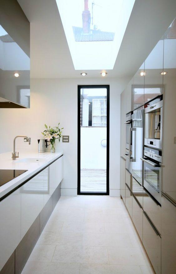 Galley Kitchen Ideas: Sleek Modern Feel