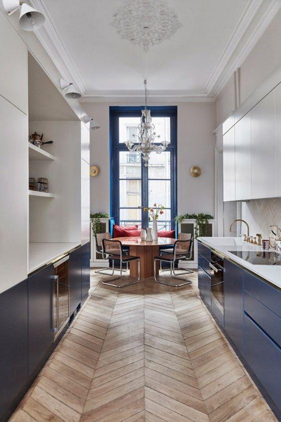 Galley Kitchen Ideas: Elegant Galley Kitchen