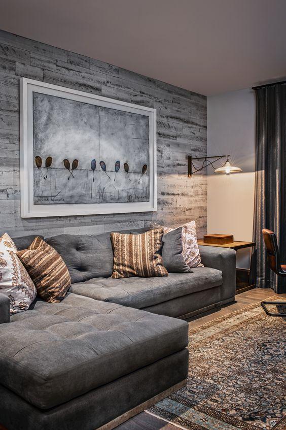 Grey Living Room Ideas: Modern Rustic Atmosphere