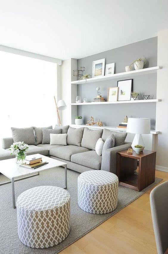 Grey Living Room Ideas: Elegant and MInimalist