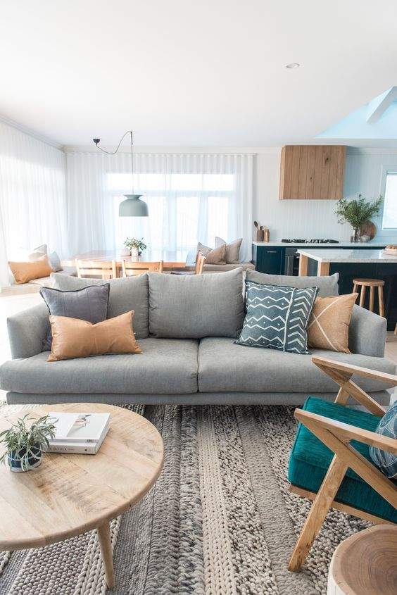 Grey Living Room Ideas: Warm and Decorative