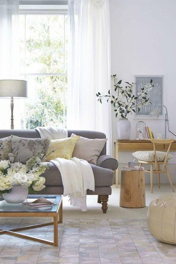 Grey Living Room Ideas: Elegant Rustic Concept