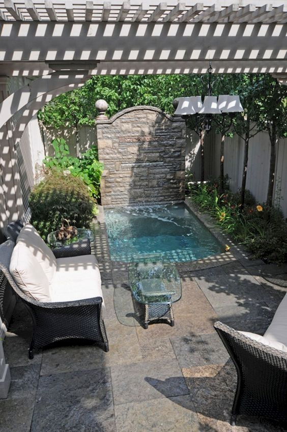 Hot Tub Landscaping: Small Square Tub