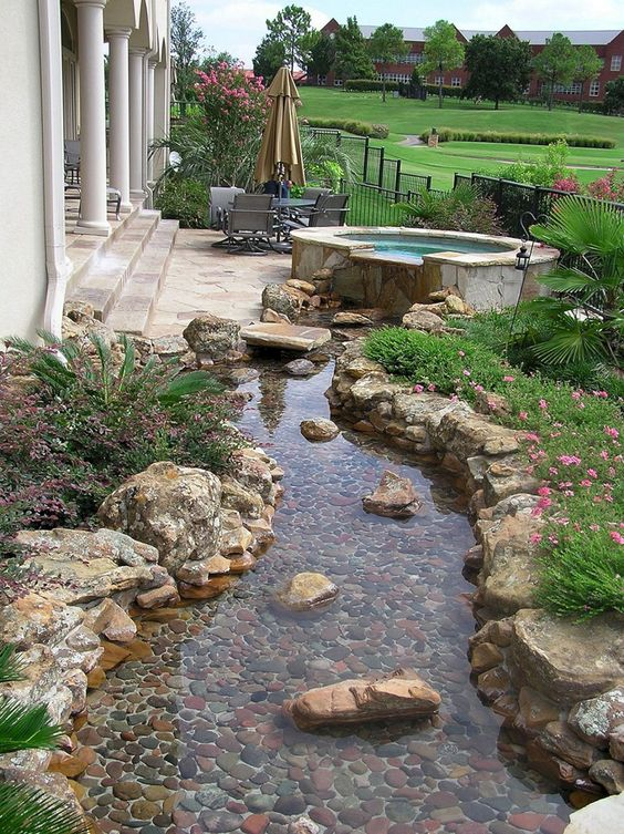 Hot Tub Landscaping: Fresh Garden Combination