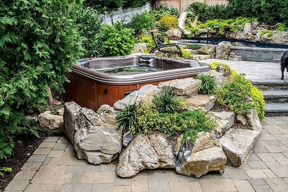 Hot Tub Landscaping