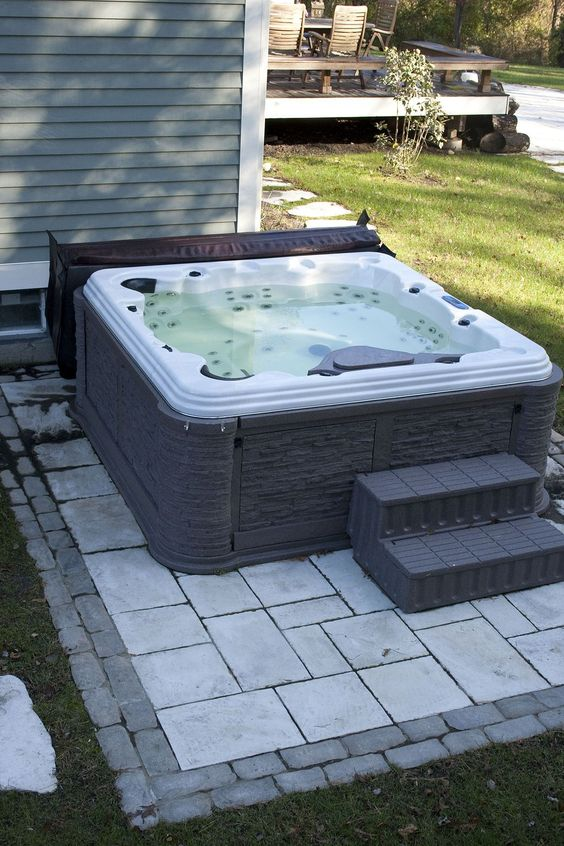 Hot Tub Patio: Simple Paver Patio