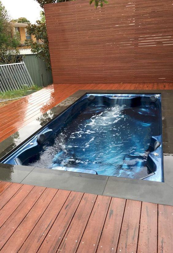 Hot Tub Patio: Wooden Deck Patio