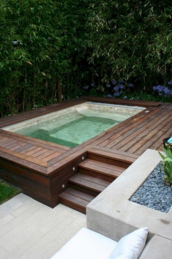 Hot Tub Patio: Simple Concrete Patio