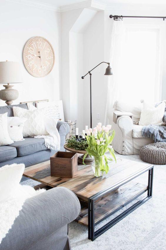 Neutral Living Room Ideas: Modern Farmhouse Concept
