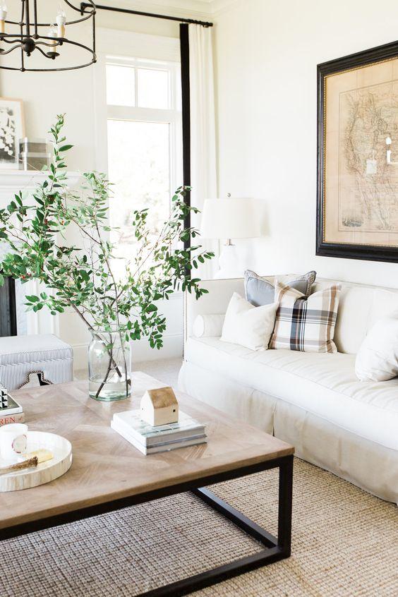 Neutral Living Room Ideas: Stunning Farmhouse Style
