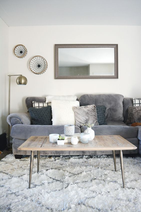 Neutral Living Room Ideas: Simple Gray Schemes