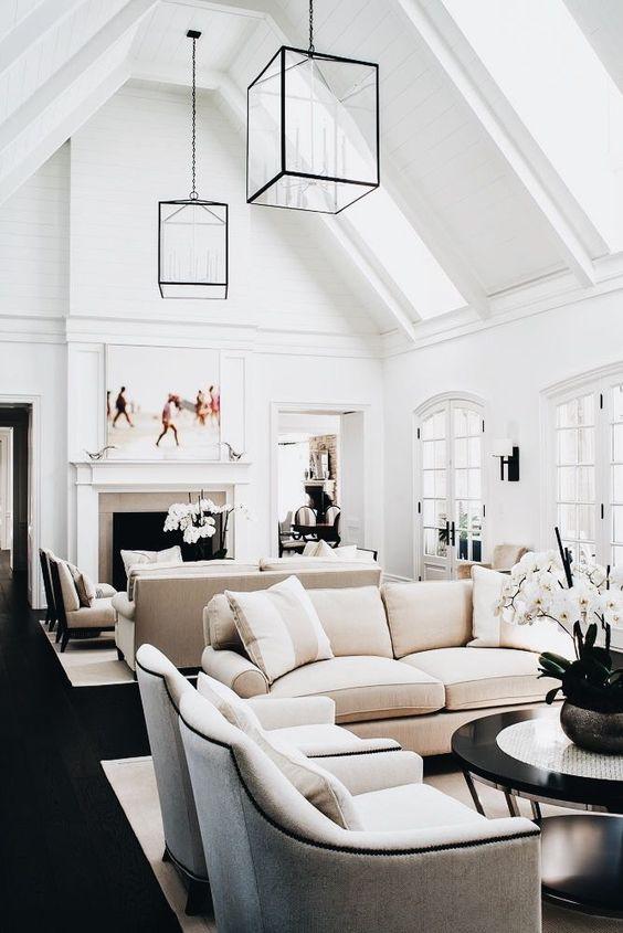 Neutral Living Room Ideas: Soft Modern Farmhouse