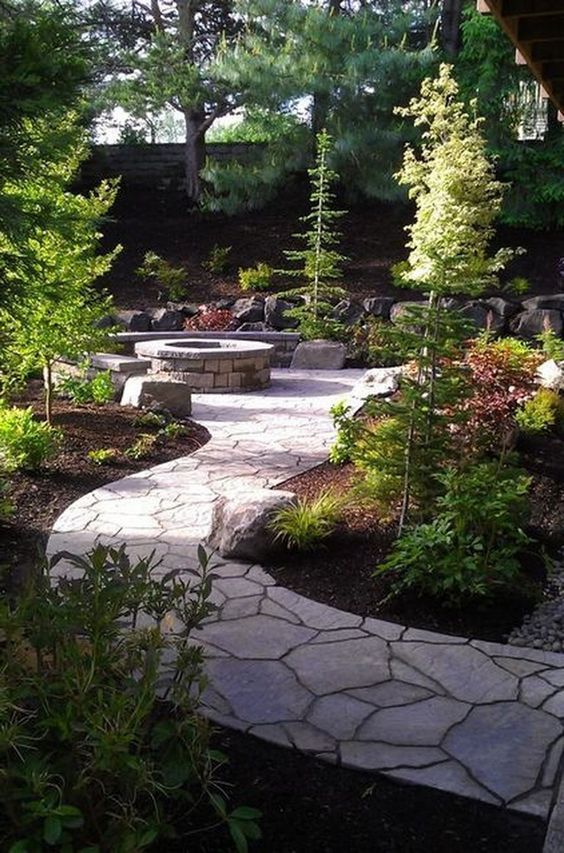 Patio Landscaping Ideas: Stunning Flagstone Pathway