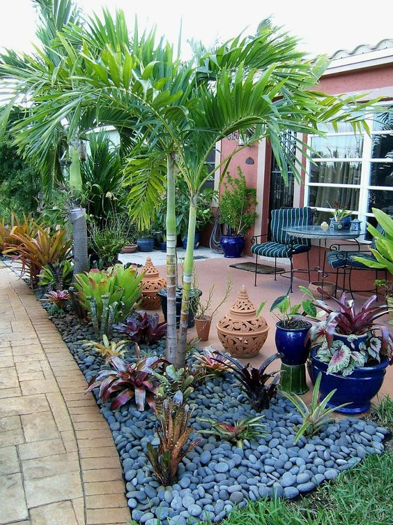 Patio Landscaping Ideas: Tropical Vibe Backyard