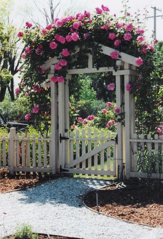Picket Fence Ideas: Stunning Fence Gate
