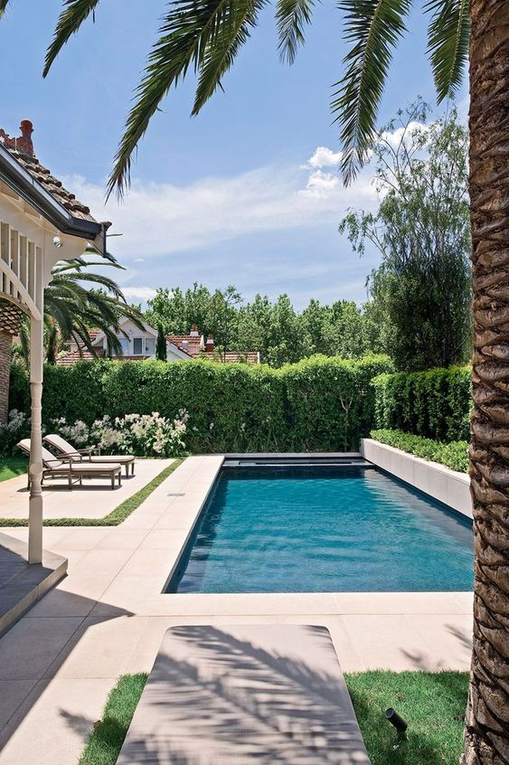 Rectangle Swimming Pool Ideas: Simple and Airy