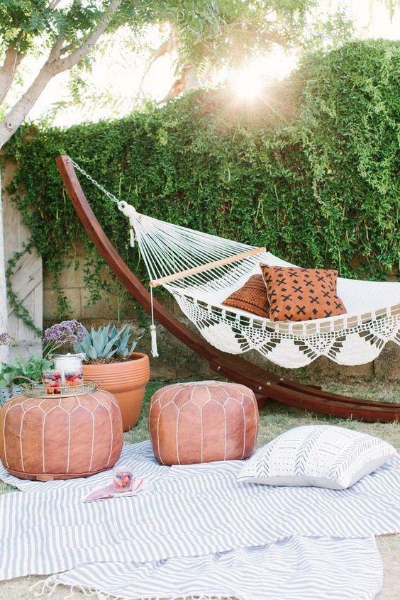 Backyard Hammock Ideas: Cozy Boho Vibe
