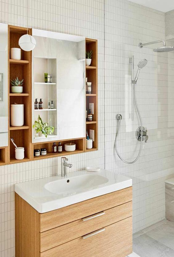 Bathroom Organization Ideas: Functional Storage Mirror