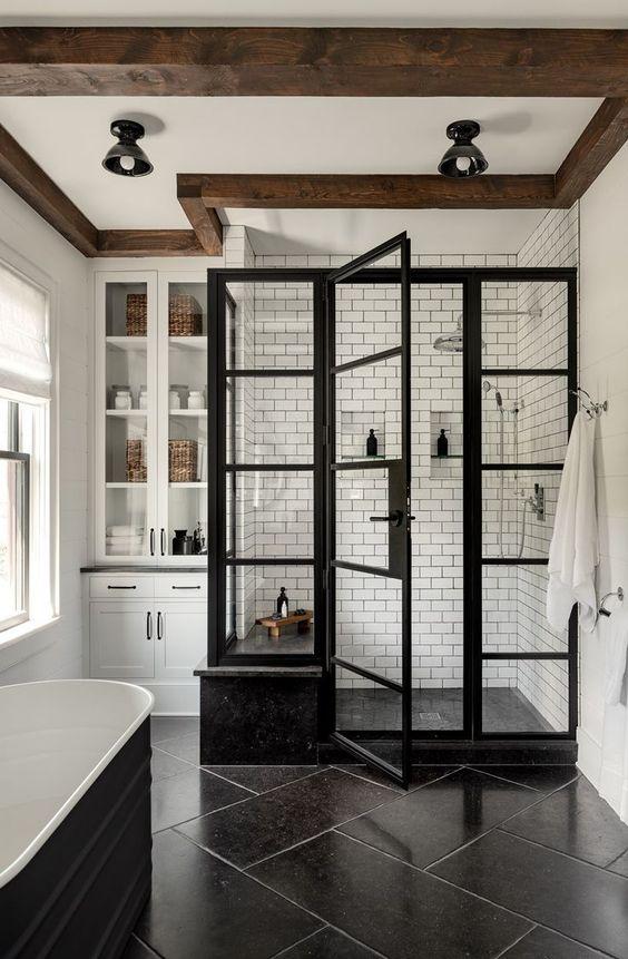 Bathroom Remodel Ideas: Trendy Rustic Accent