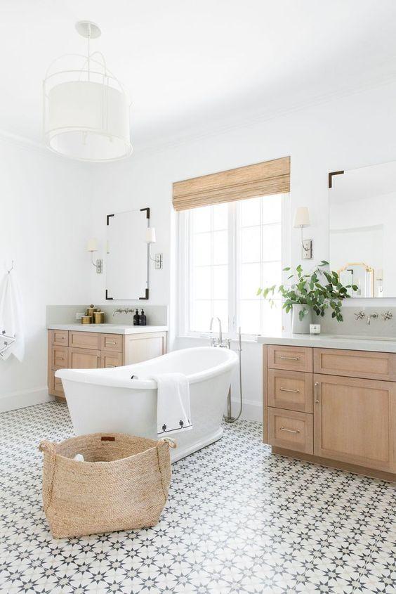 Bathroom Remodel Ideas: Elegant Farmhouse Style