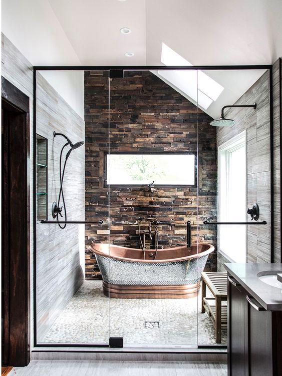 Bathroom Remodel Ideas: Modern Rustic Decor