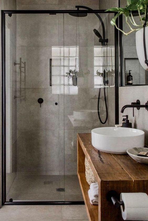 Bathroom Remodel Ideas: Modern Rustic Industrial