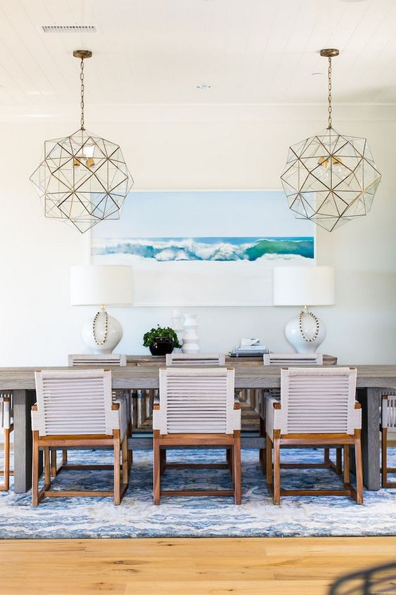 Coastal Dining Room Ideas: Captivating Modern Concept