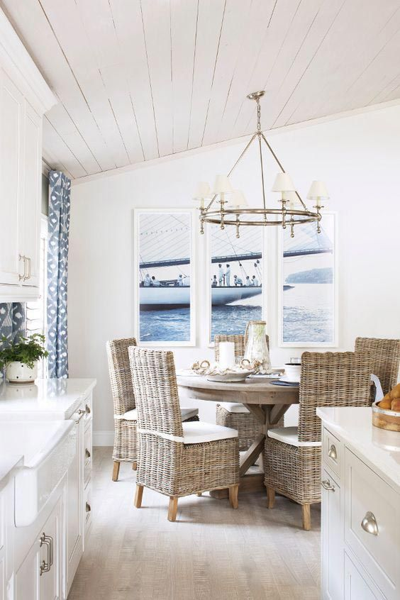 Coastal Dining Room Ideas: Airy Open Plan