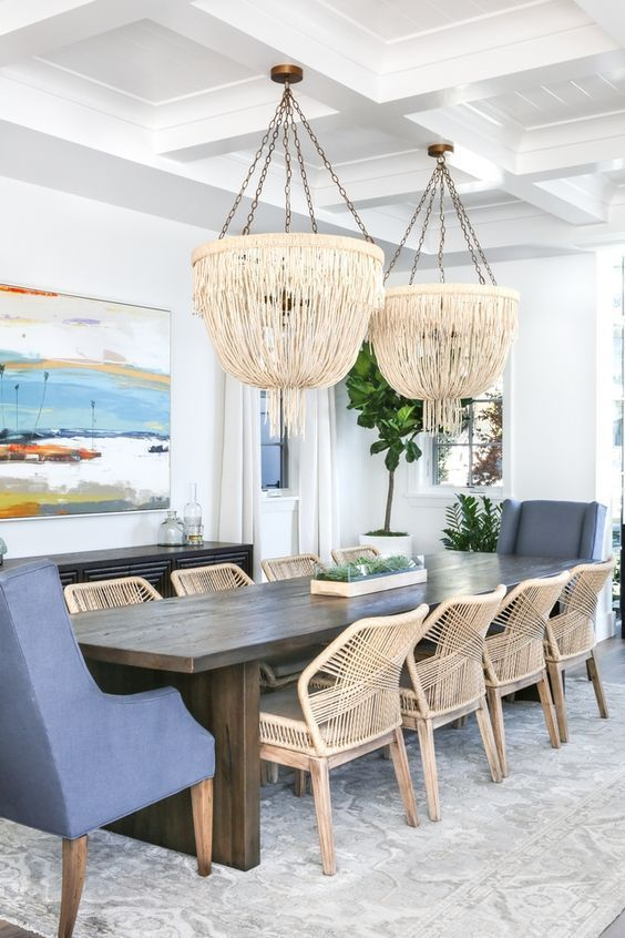 Coastal Dining Room Ideas: Eye-Catching Lighting Fixtures