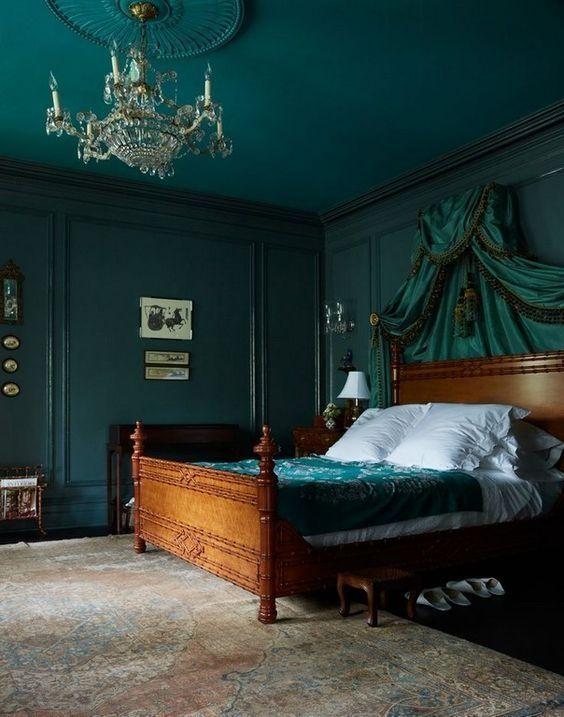Green Bedroom Ideas: Breathtaking Dark Green