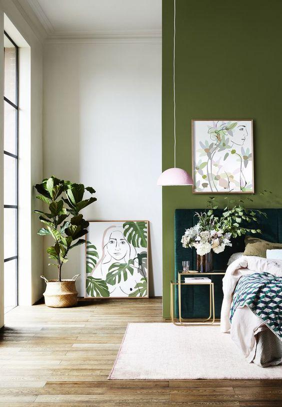 Green Bedroom Ideas: Fresh Tropical Feeling