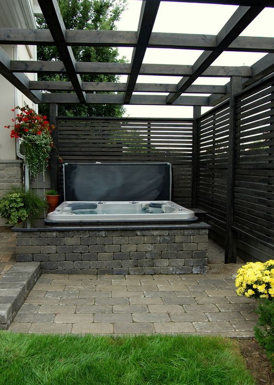 Hot Tub Privacy: Modern Privacy Screen
