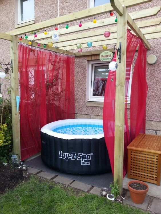 Hot Tub Privacy: Simple Fabric Privacy