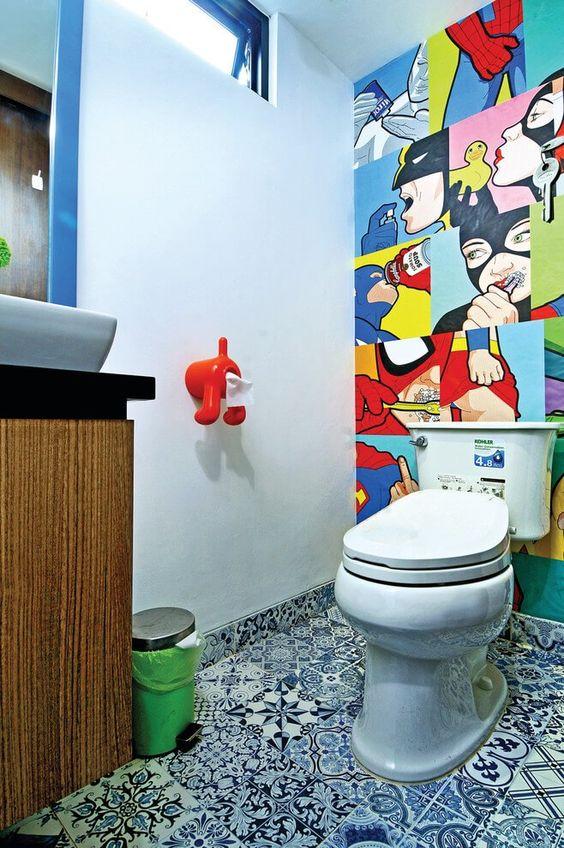 Kids Bathroom Ideas: Attractive Wall Decor