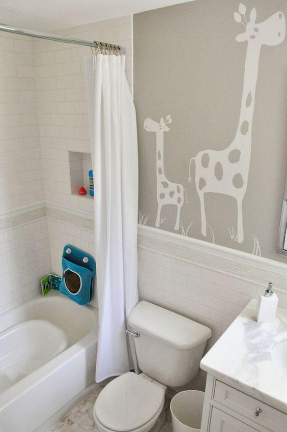 Kids Bathroom Ideas: Minimalist Neutral Shades