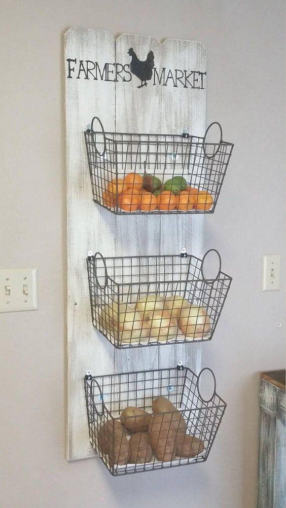 Kitchen Wall Ideas: Useful Hanging Basket
