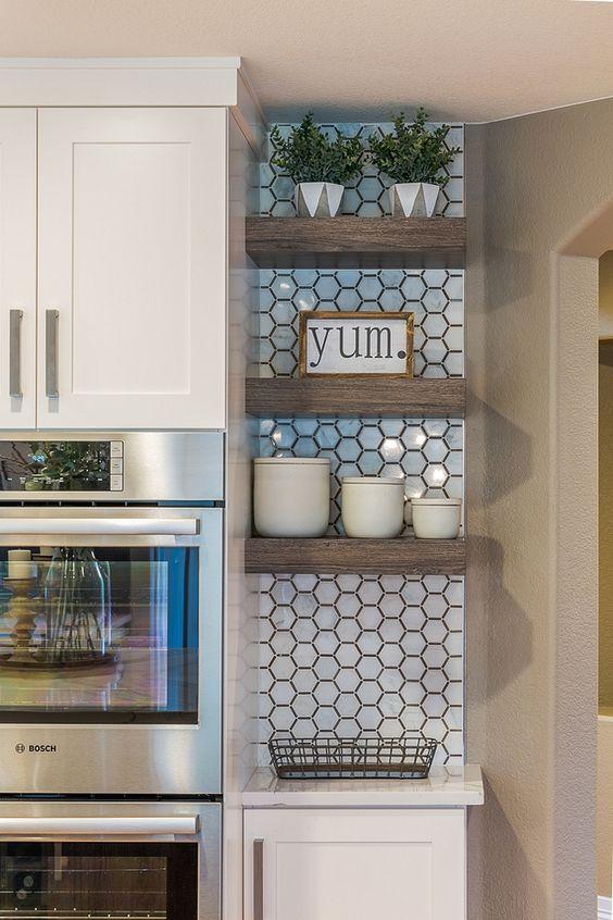 Kitchen Wall Ideas: Mini Floating Shelves