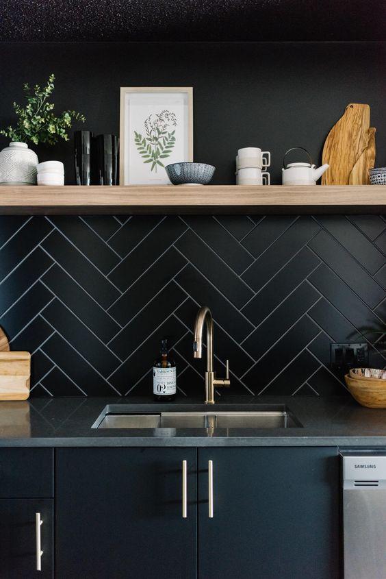 Kitchen Wall Ideas: Masculine Matte Finish