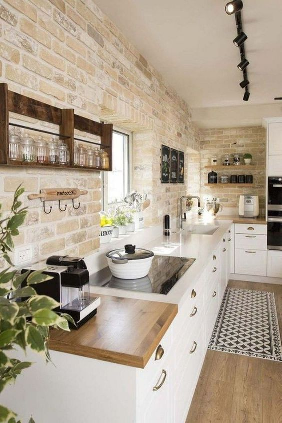 Kitchen Wall Ideas: Attractive Rustic Concept