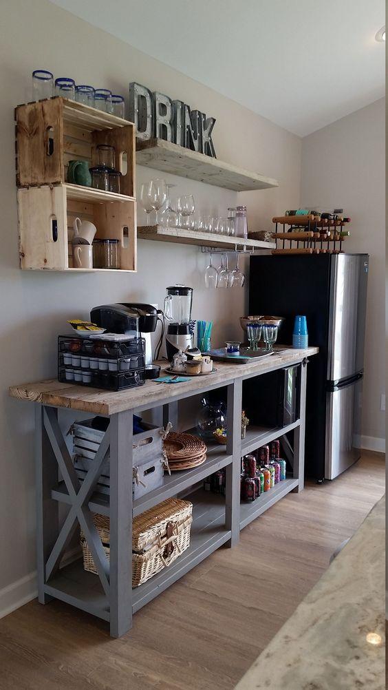 Kitchen Wall Ideas: Classic Open Shelves