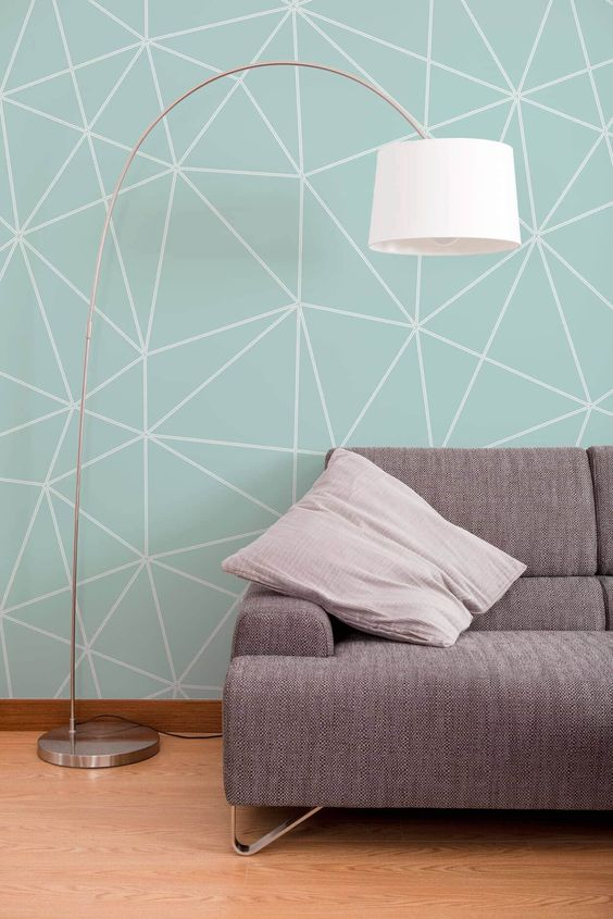 Living Room Wallpaper Ideas: Minimalist Pattern