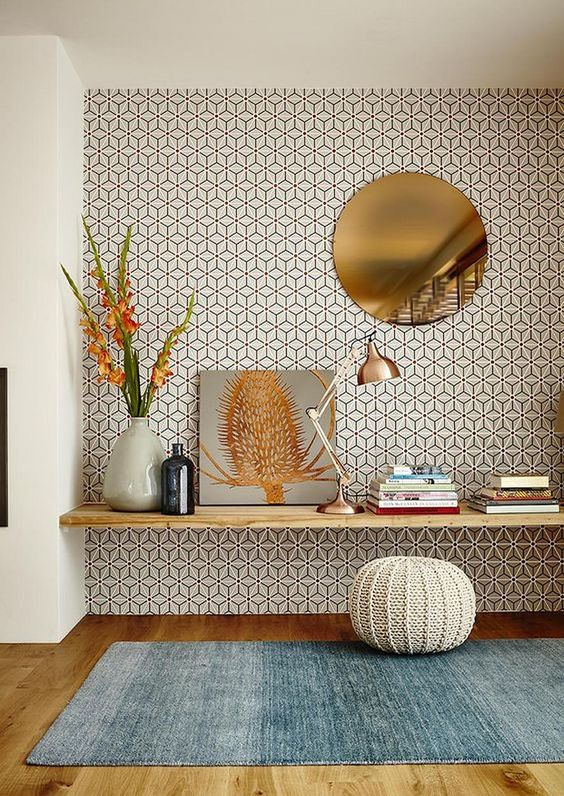 Living Room Wallpaper Ideas: Captivating Decorative Pattern