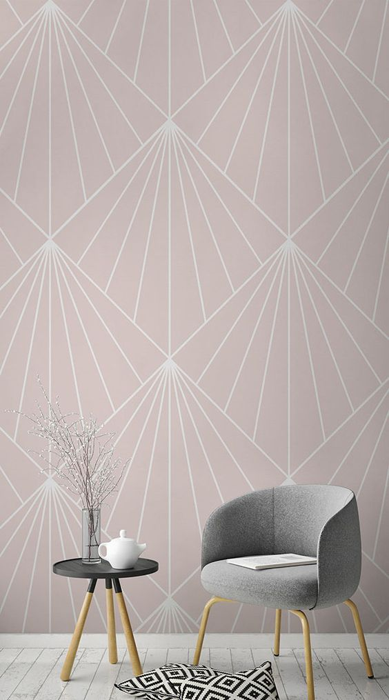 Living Room Wallpaper Ideas: Lovely Simple Patterns