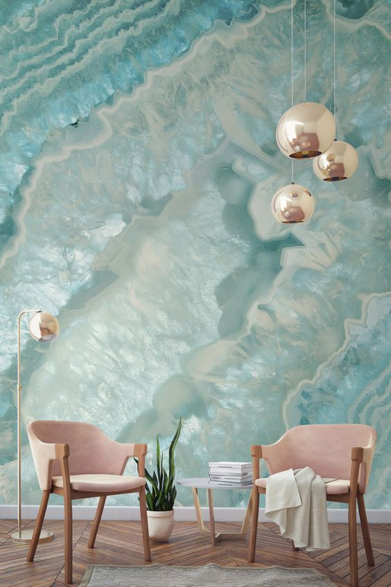 Living Room Wallpaper Ideas: Fresh Coastal Nuance