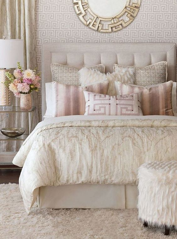 Luxury Bedroom Ideas: Elegant Feminine Bedroom